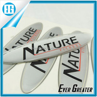 custom Self adheive UV resistant domed sticker logo printing nameplate