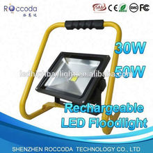 CE RoHS factory price portable rechargeable 10w led flood light with two years warranty