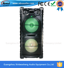 Chinese Factory Supply Trolley Active double 15 inch powered Speaker with 1 wireless Mic