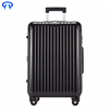 Striped solid color abs trolley case business luggage suitcase