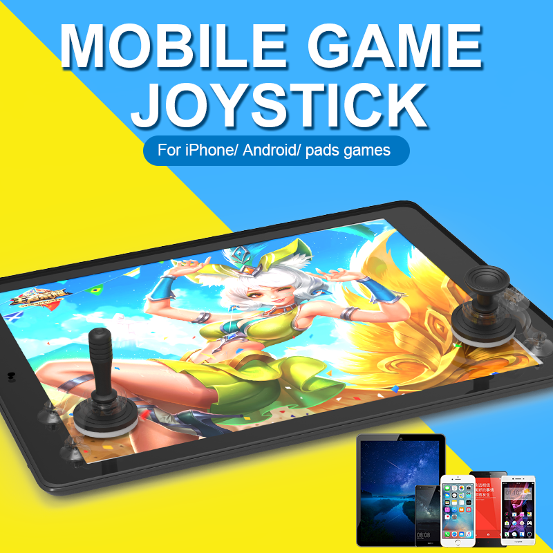 Mobile phone game buttons sucker stick to screen support touch remote game controller joystick for mobile,laptop