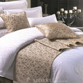 Wholesale Plain or Satin 100 Cotton Hotel Bed Sets- Luxury