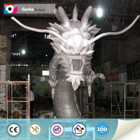 Customized 3d fiberglass dragon model