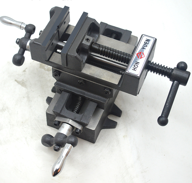 "3"" 100*130mm Milling Fixture Manual Cross Slide Machine Table Vise"