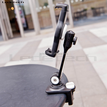 rotate adjustible aluminium bracket swivel clip clamp base bedroom restaurant kitchen cellphone pad mount for ipad iphone