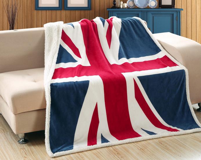 american england flag design flannel blanket - Flannel Blanket