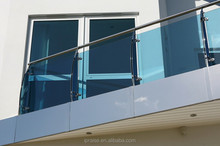 Outdoor banisters and railings stainless steel glass fence baluster