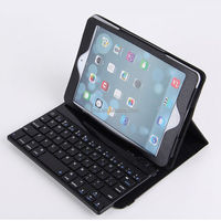 Bluetooth Keyboard Leather Folio Case For iPad mini