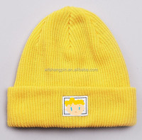 Winter knit custom yellow minion beanie hat,south africa beanie hats,kids beanie