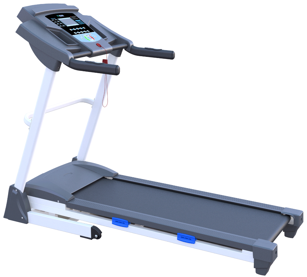 Electric easy folding treadmill with hydraulic cylinder
