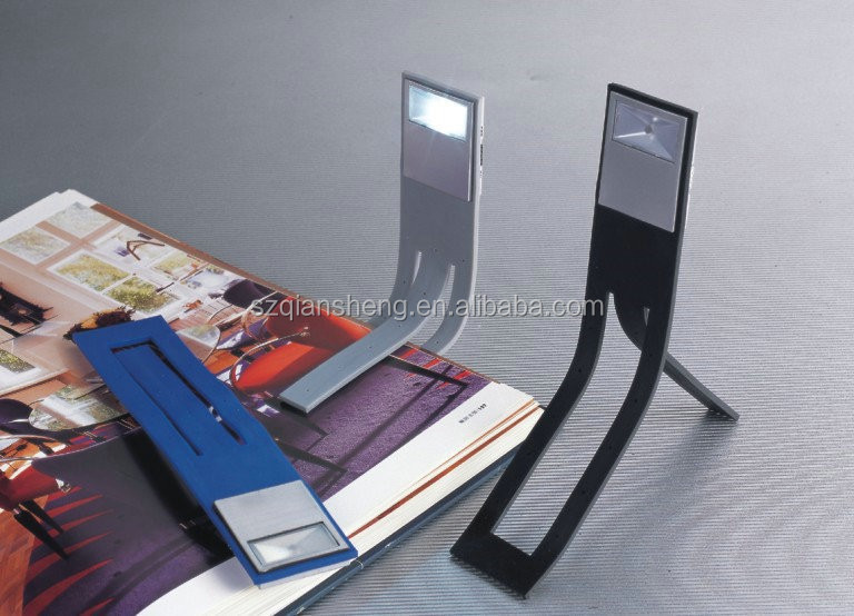 mini led book reading lights Flexible clip bookmark lamp