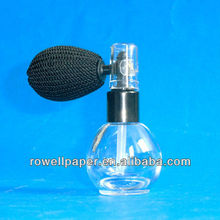 12ml mini ball shaped glass bottle with a bulb powder atomizer manufacturer made in China