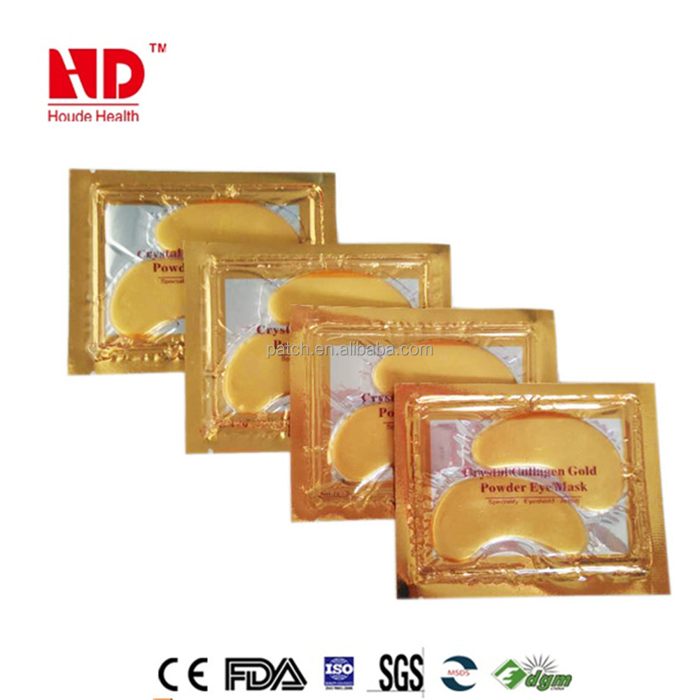 wholesale price golden Eye wrinkles remove crystal collagen eye mask