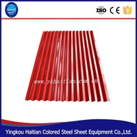 Low price colour pre-painted steel roofing sheet