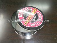 Round Cookie/Candy Metal Tin Box