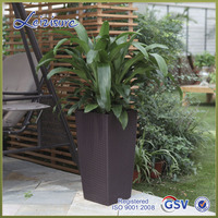 TB04 top selling Outdoor rattan surface green wall planters plastic