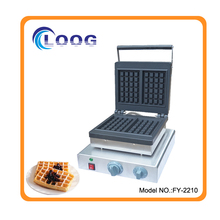 Rectangle Waffle Baker Stainless Steel Liege Waffle Iron For Sale