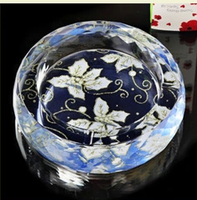 Hot China Style Silk Glass Ashtray For Sale