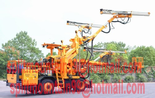 Tunneling Blast hole drilling jumbo rig three arms with cross section up to 203 m2