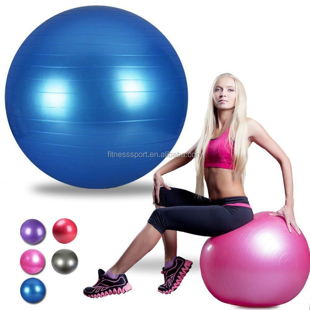 Wholesale Eco-friendly custom printed 65cm anti-burst PVC gym fitness massage exercise yoga <strong>ball</strong>