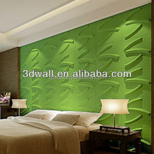 Green product wall decor 3d mural colorful wallpaper / 3D Wall Panels