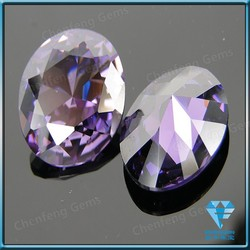 lab created purple round cut cubic zirconia/cz round diamond semi-precious stone
