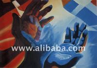 African Oil Painting (Hand Gates)