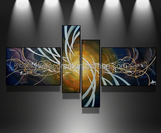 multiple panels bulk picture frames for home decoration Group Oil Painting on Cotton canvas
