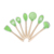 Top seller colorful silicone Kitchen Utensil Sets with wooden Handle