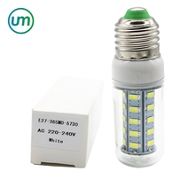 LED Bulb Lamp E14 E27 36leds SMD 5730 Corn Bulb 220V Chandelier LED bulb corn light Spotlight