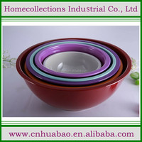 plastic mixing bowl, melamine mixing bowl in different size
