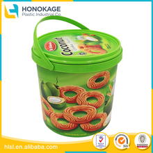 Round Shape Food Container Thailand Market Hot Sale with Handle, Plastic Disposable Cup