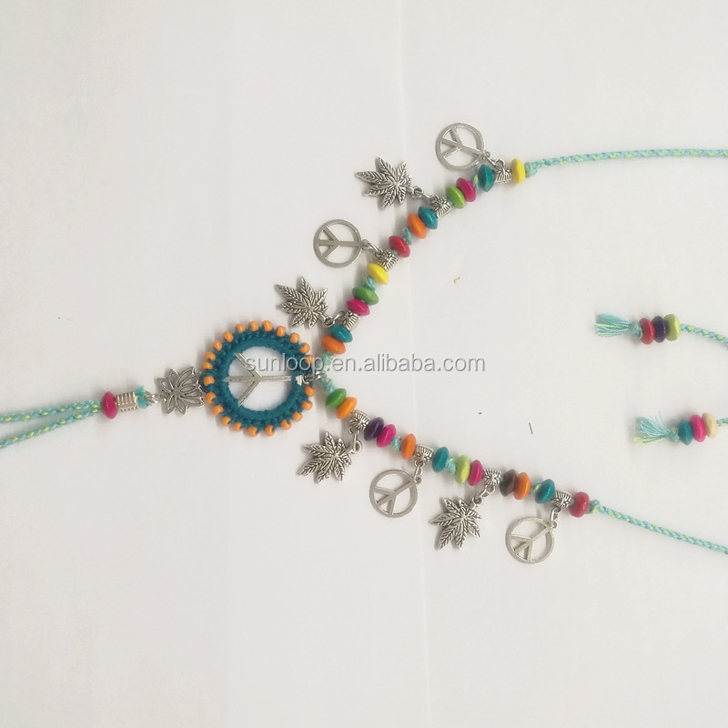 new original peace sign custom beach wedding barefoot sandals
