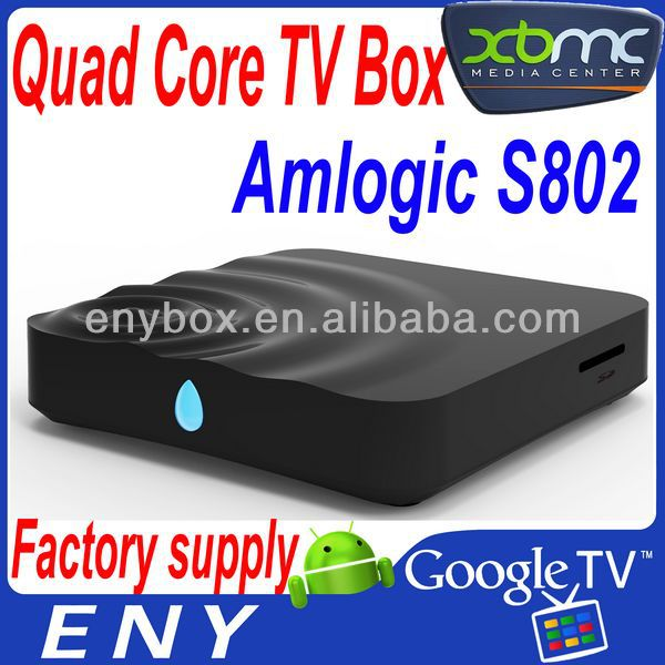 2014 latest product quad core full HD 1080p amlogic 8726 S8 android 4.3 smart tv box