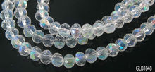 2*3mm Faceted rondelle crystal glass beads AB fire polish