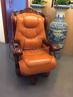Classic style luxurious leather office king throne chair(FOH-A01)