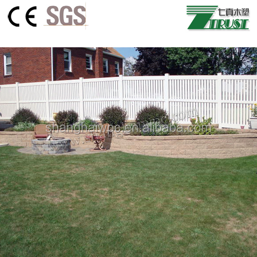 strong white pvc privacy fence for garden, house, pool, yard use