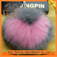 Large Fox 13cm 15cm Fur Pom