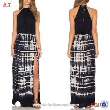 2016 Alibaba New Fashion Clothing Brand In China Tie-dye Rayon Elastic Waist Woman Simple Long Dress
