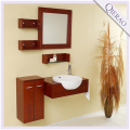 25.5'' Modern Wall Huang Wooden Bathroom Vanity w/ Mirror & Side Cabinet