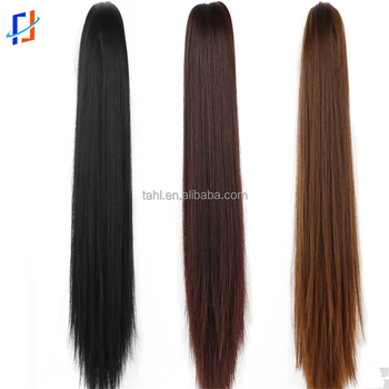 Synthetic Hair Ribbon Drawstring Ponytail Pieces Extension