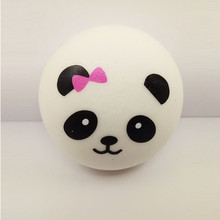 2017 custom squishy supplier squeeze toy 10cm squishy panda bun for sale