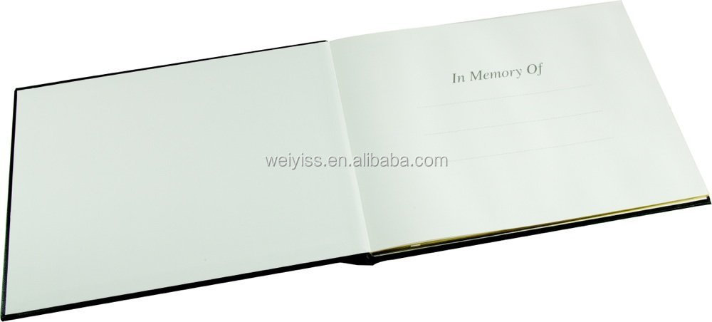 Celebration of Lifeleather memory book,Memorial Guest Book,condolence memory book