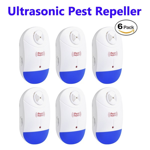 CE RoHS Approved Electronic Ultrasonic Pest Repeller Pack of 6