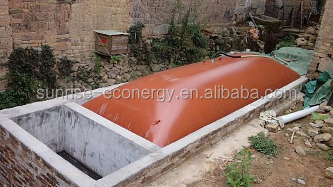 cow farm accessories red-mud membrane three phases biogas generator set for small size biogas digester