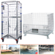 logistic cart foldable rolling security cage