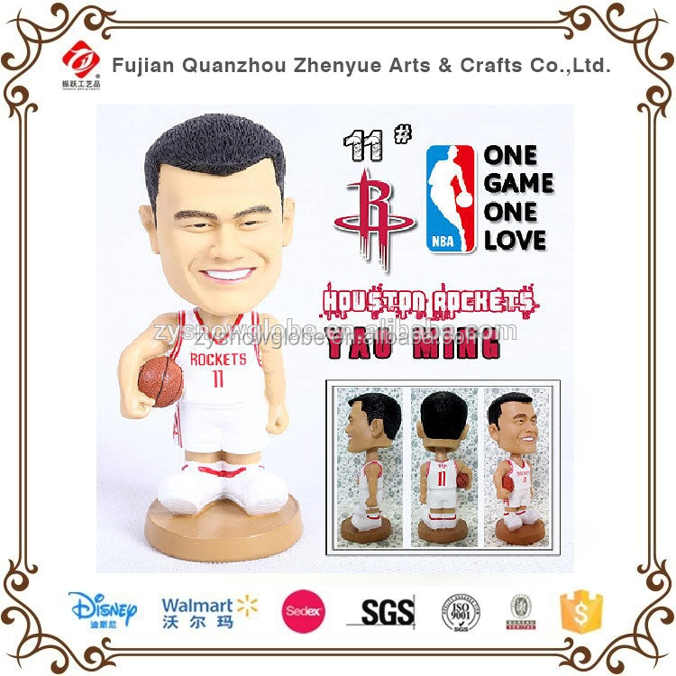 Custom Design Basketball player Resin Bobble Head,Dashboard bobble dolls of Yao Ming