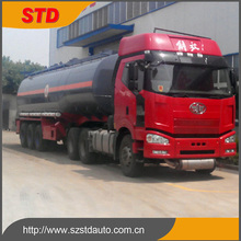 China factory 44000 liters tri-axle NAOH tank semi trailer for sale
