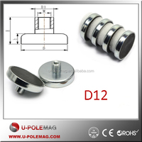 Ceramic Cup Magnets/Ferrite Pot Magnet with Female Threaded Stud