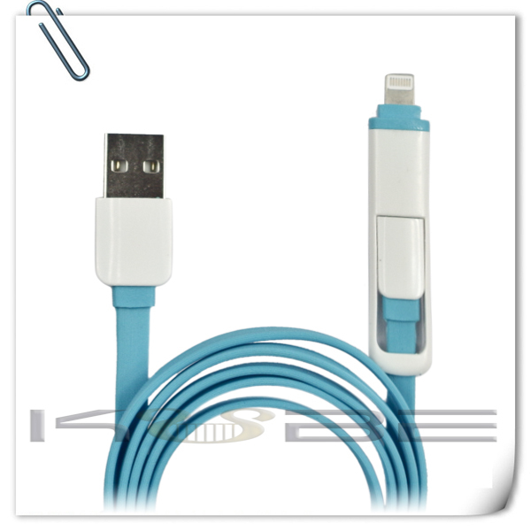 high quality 2 in 1 usb charging cable paypal accepted